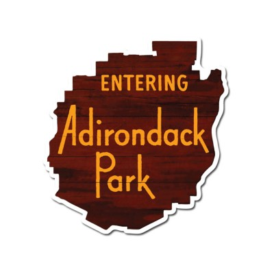 Entering Adirondack Park North Country Decal sticker