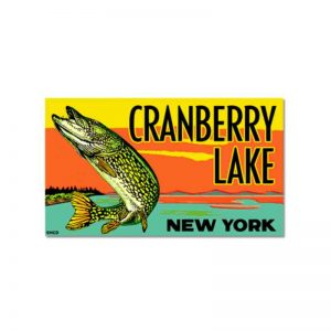 Cranberry Lake New York Northern Pike Decal Sticker