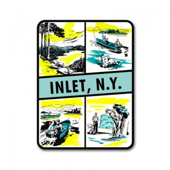Inlet new york decal sticker adirondack mountains