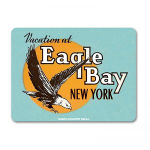 Vacation at Eagle Bay New York classic Adirondack decal sticker
