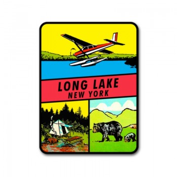 Long Lake New York Classic Travel Decal sticker