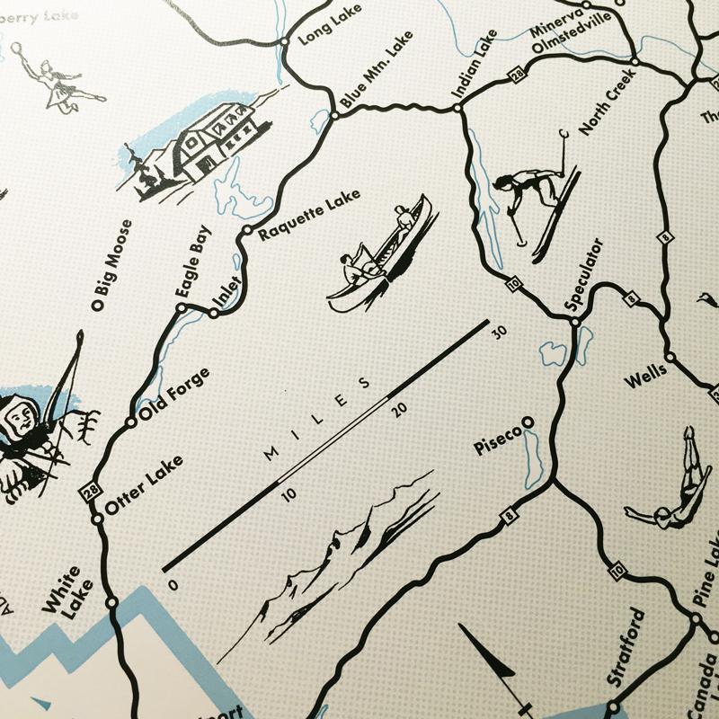 Adirondack Park Map detail