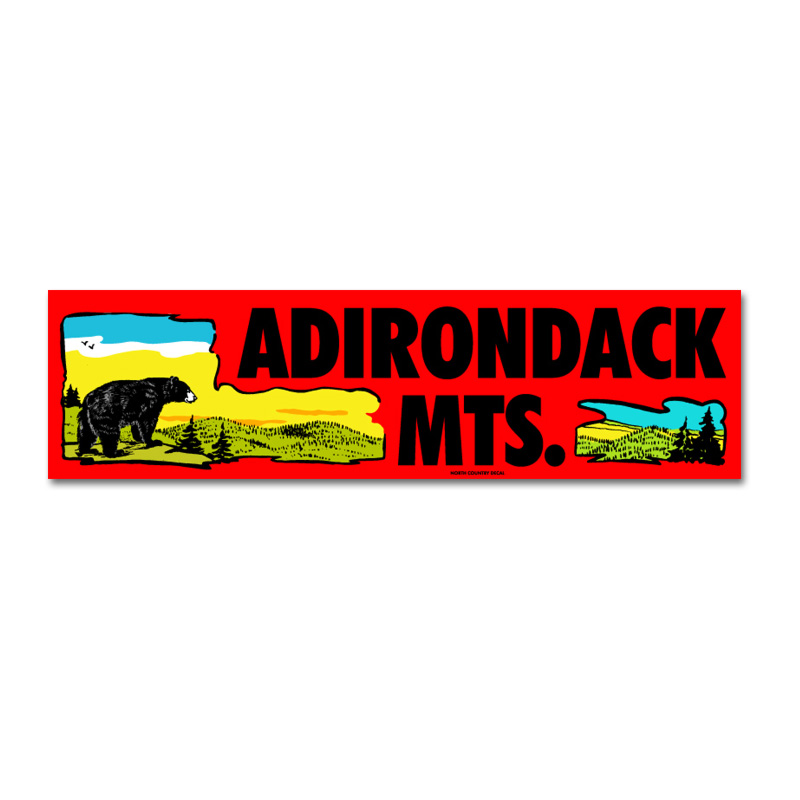 Adirondack Mts. Bumper Sticker