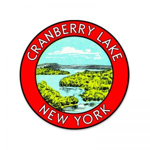 Cranberry Lake round sticker