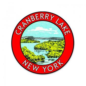 Cranberry Lake round sticker