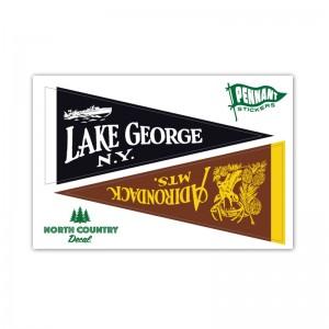 Lake George Pennant Multi Decal Sticker